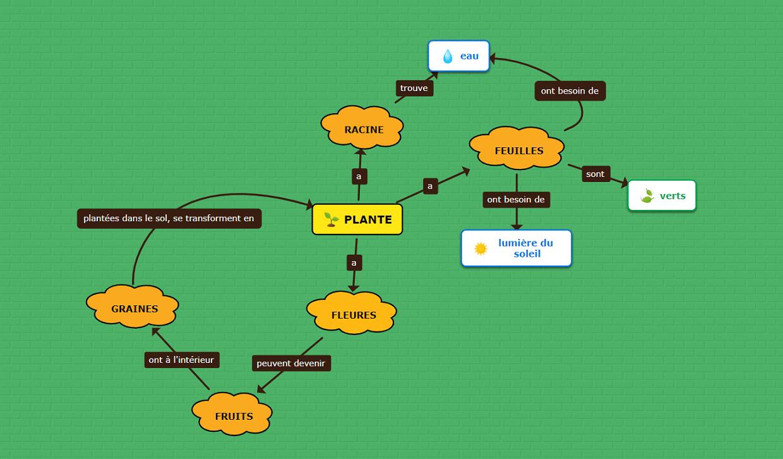 modèle de carte conceptuelle pour l'éducation