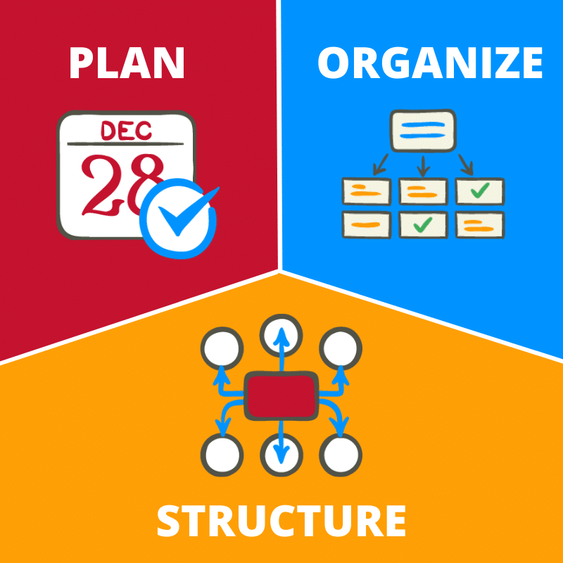 Plan and organize