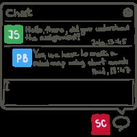 live chat on a gantt chart software