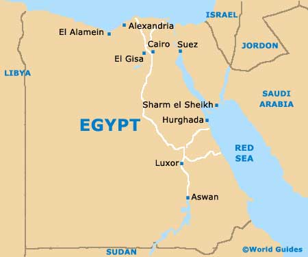 Egyptian Pyramids Mind Map - Map of egypt with pyramids