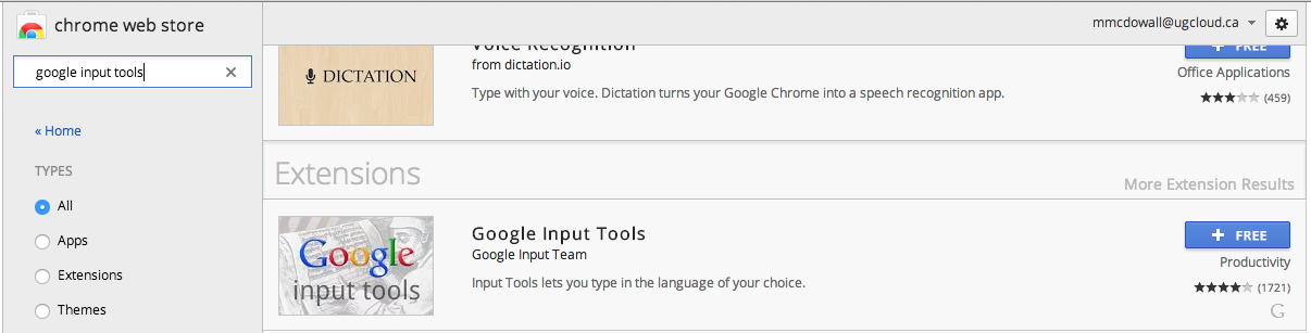 Google Input Tools - Mapa Mental